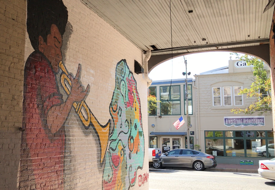 This mural recently was completed inside a 'tunnel' running between buildings on the first block of North High Street in Millville. The Millville Development Corp. commissioned it and two others not yet completed.