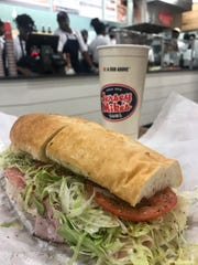 The Italian sub at Jersey Mike's in Hartsdale.