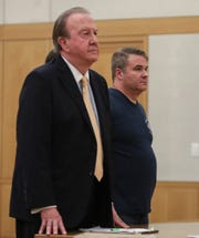 Plastic surgeon Matthew Bonanno, right, with attorney Paul Gentile during a court appearance in Westchester County Superior Court in White Plains on Tuesday, Sept. 10, 2019.