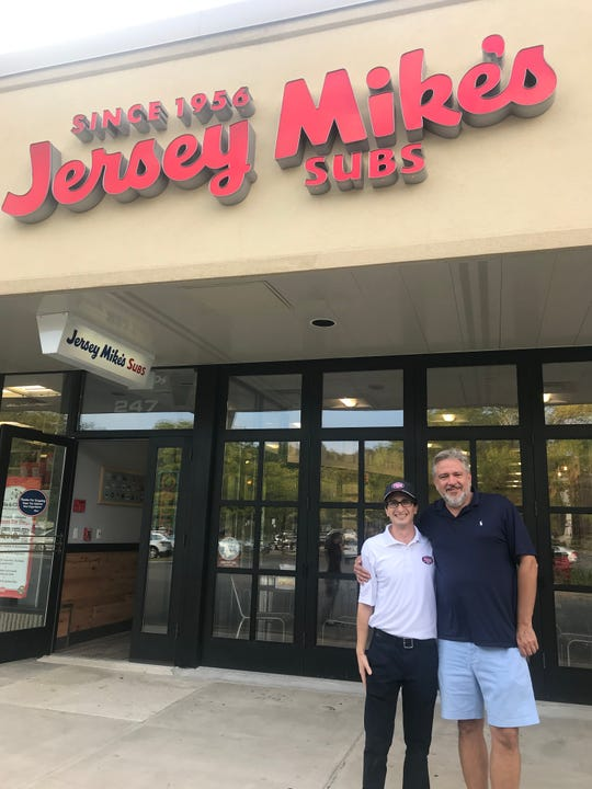 David Frank, left, and Andrew Hamerling, right, own Jersey Mike's in Hartsdale.