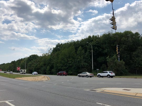 Construction is expected to begin this fall on a Wawa in this wooded area across from the Christiana Town Center off Del. 273.