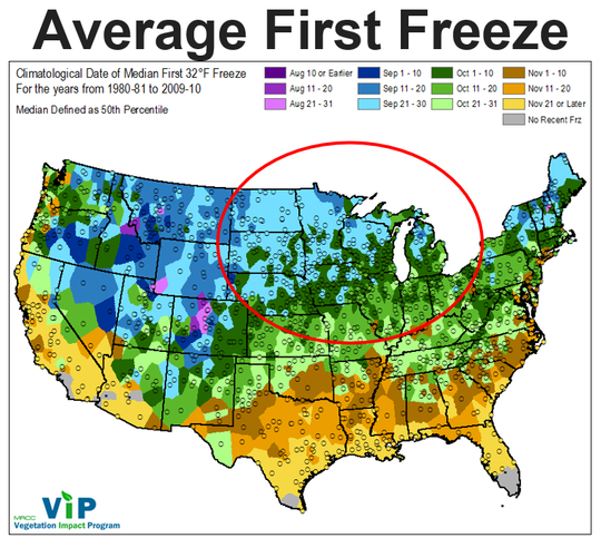 Harvest weather may be favorable in much of the Midwest in September and concerns about an early first freeze for many farmers may have diminished, DTN Senior Ag Meteorologist Bryce Anderson said.