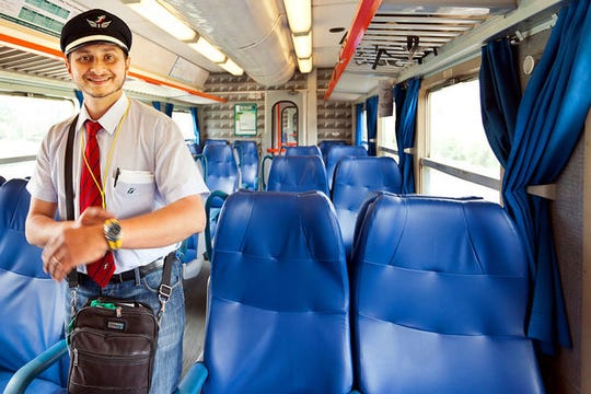 Conductors in 31 European countries — including this one on an Italian train — accept Eurail Global Passes.