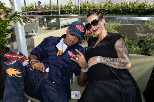 Amber Rose is officially nine months pregnant.