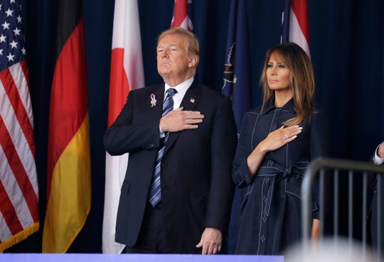 President Donald Trump and first lady Melania Trump on Sept. 11, 2018, in Shanksville, Pennsylvania.