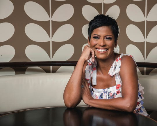 """This Aug. 8, 2019 photo shows former NBC """"Today"""" show co-host, Tamron Hall, posing for a portrait at Ruby's Vintage Harlem in New York to promote her self-titled syndicated talk show, premiering Sept. 9. (Photo by Christopher Smith/Invision/AP) ORG XMIT: NYET431"""
