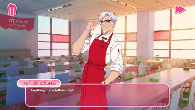 KFC is apparently cooking up the world's first Colonel Sanders dating simulator.