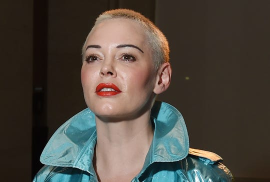 Rose McGowan at Pam Hogg show during the London Fashion Week in September 2018.