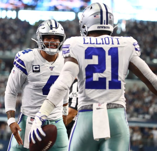 7. Cowboys (14): Slightly overshadowed by QB Dak Prescott's sublime opener and RB Zeke Elliott's new paycheck was strong debut of new OC Kellen Moore.