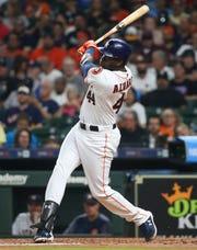Astros rookie DH Yordan Alvarez has 24 homers this season.