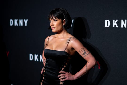 Halsey attends the DKNY 30th anniversary party at St. Ann's Warehouse on September 9, 2019 in New York City.