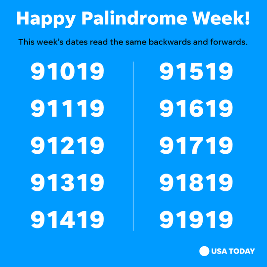 Palindrome Week  What Is It This Rare Date Phenomenon Explained