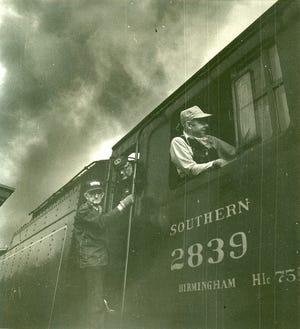 Railroad men on Southern 2839