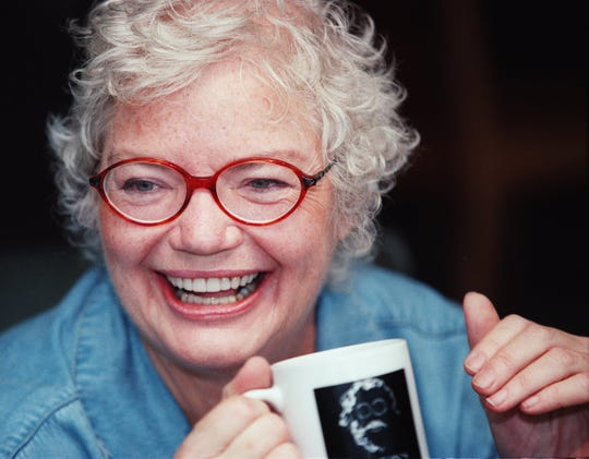 "Molly Ivins talks about her career and her recent bout with cancer at her home in Austin, Texas, May 12, 2001. Best-selling author and columnist Molly Ivins, the sharp-witted liberal who skewered the political establishment and referred to President Bush as ""Shrub,"" died Jan. 31, 2007, after a long battle with breast cancer. She was 62."
