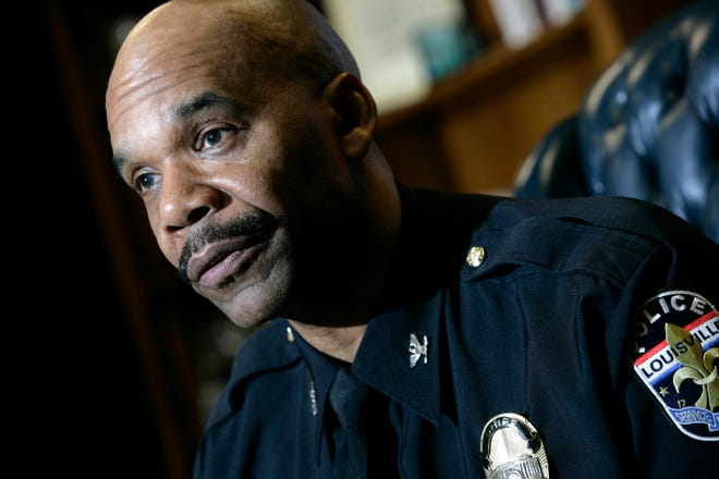 In this file photo, then-Louisville Metro Department Police Chief Robert White talked about procedures for cruising during Derby Weekend in May.
