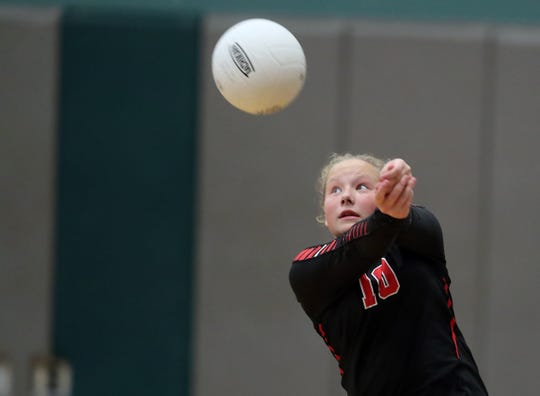 Crosspoint volleyball player Ella Anderson and the Warriors are 6-3 overall and lead the Sea-Tac League standings.