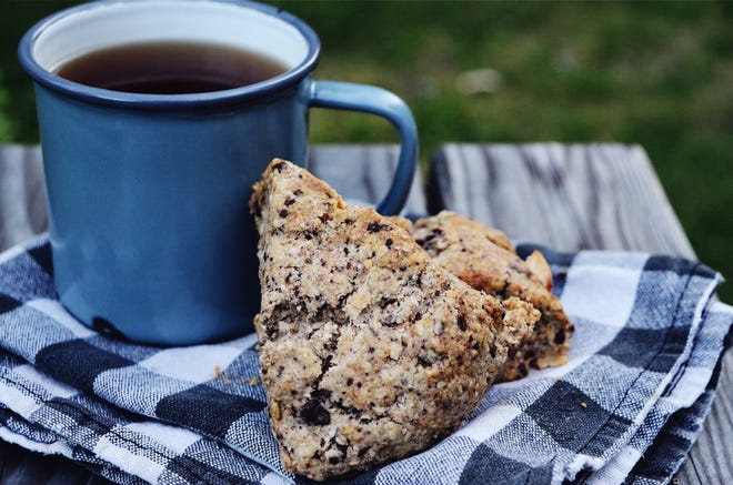 Chocolate pear scones are a great fall treat.