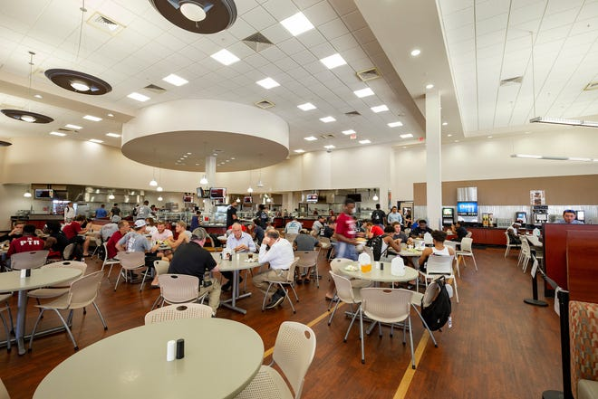 Panther Dining Hall on the Florida Tech campus in Melbourne hosts monthly International Dinners. The hall is open to the public.