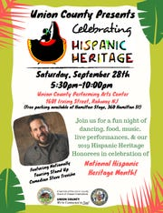The 2019 Union County Hispanic Heritage Celebration will be held from 5:30 to 10 p.m. on Saturday, Sept.28, at the Union County Performing Arts Center, 1601 Irving St.in Rahway.