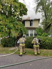A Ray Street home in Franklin Township was heavily damaged by a fire Tuesday.