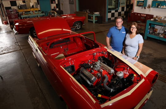 Jim and Betsy Brown own Classic Auto Supply Company in Coshocton, which manufactures parts for classic Ford Thunderbirds. They also have a restoration shop for the iconic T-birds.