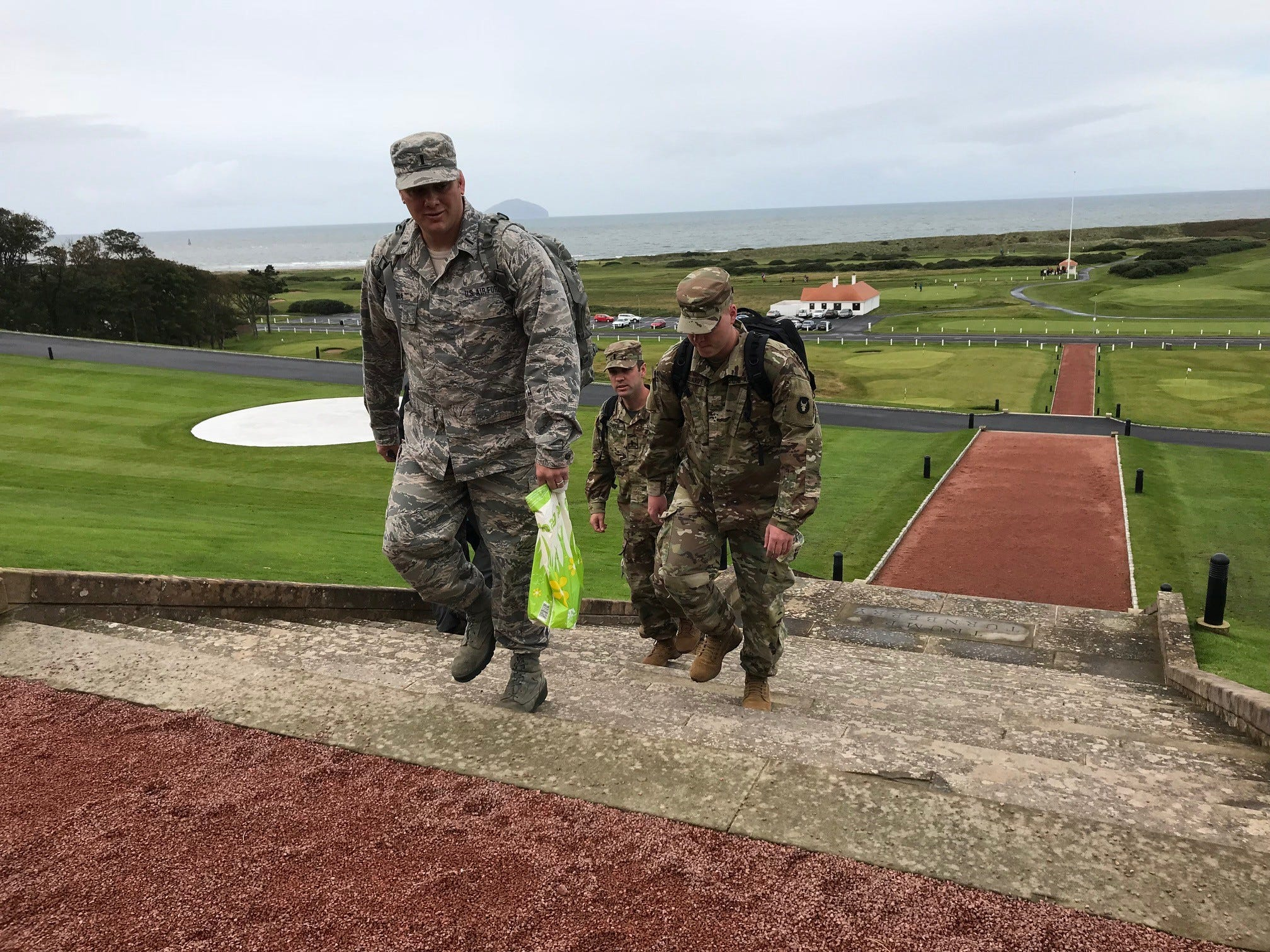 Iowa National Guard members stayed at Trump Turnberry