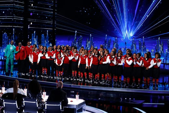 "Detroit Youth Choir onstage during the semifinals of NBC's ""America's Got Talent."""