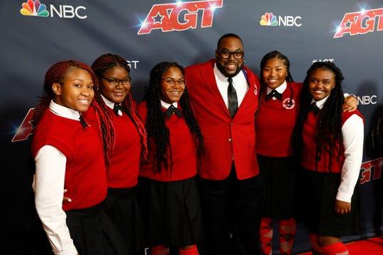 "Detroit Youth Choir (with director Anthony T. White, center) performed Sept. 10, 2019, in the semifinals of NBC's ""America's Got Talent."""
