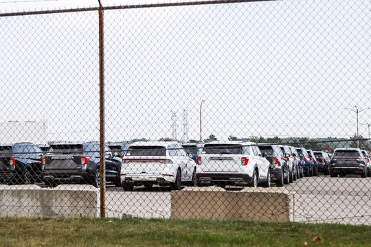 Ford Explorers and Lincoln Aviators parked at the Ford's Flat Rock Assembly Plant in Flat Rock, Wednesday, September 11, 2019.