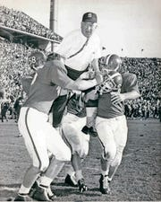 Duffy Daugherty won back-to-back national championships in 1965-66.
