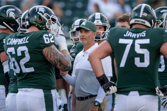 """Michigan State offensive coordinator Brad Salem says the improvement in the offensive line against Western Michigan was """"drastic."""""""