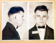 This file photo shows Indiana Reformatory booking shots of John Dillinger, stored in the state archives. The History Channel has dropped out of a planned documentary on John Dillinger that would have included the exhumation of the 1930s gangster's Indianapolis gravesite.