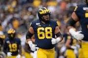 Michigan offensive lineman Andrew Vastardis