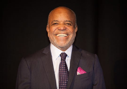 "Berry Gordy Jr. smiles at the launch of ""Motown The Musical"" in central London on Monday, Oct. 5, 2015, building on a legacy of creating the largest black-owned company in America in the 1960s. Motown Records moved to Los Angeles in 1972, and Gordy sold the company to MCA in 1988.  Since then, he's been a film and TV producer, writer and song publisher."