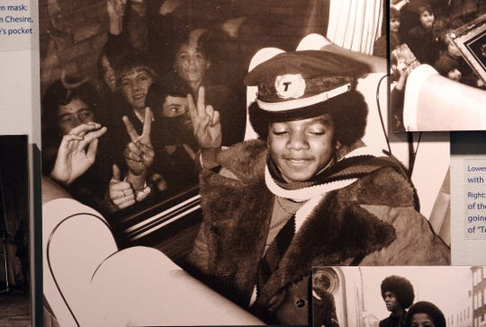 Young Michael Jackson in a photo from an expanded Jackson 5 exhibit at the Motown Historical Museum in 2010, marking the one-year anniversary of Michael Jackson's death.