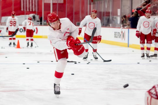 The Red Wings selected defenseman Moritz Seider with the No. 6 overall pick in the 2019 NHL draft.