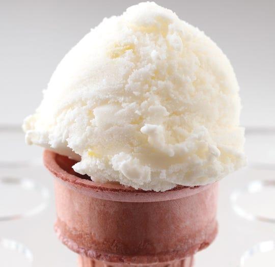 Homemade Lemon lotus ice cream, Wednesday, July 31, 2019. (Hillary Levin/St. Louis Post-Dispatch/TNS)