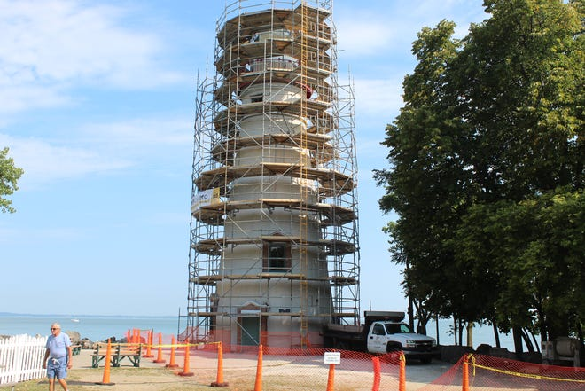 The Marblehead Lighthouse tower will be undergoing exterior renovations and has been closed to the public since Sept. 3.