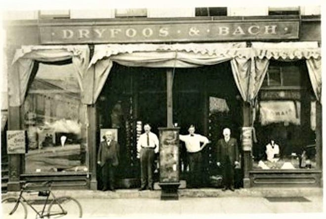An anchor business in downtown Fremont in 1880s was Dryfoos & Bach.
