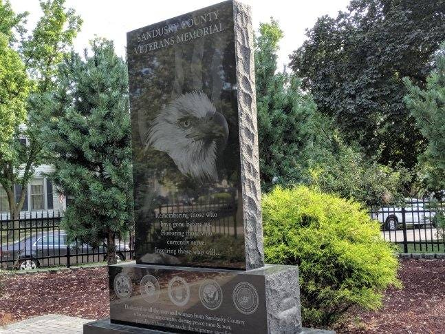 A group is seeking donations to build a new archway and granite piece to honor veterans at the newly named Sandusky County Veterans Memorial Park.
