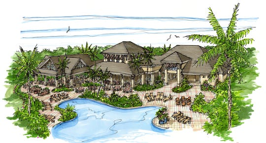 Artist's rendering of The Social Club at Wild Blue, a 3,500 acre community in Estero.