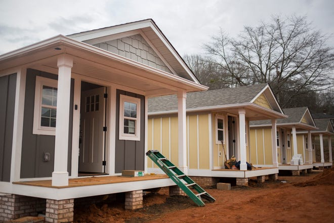 Opportunity Village at the Dream Center in Easley, S.C., has 23 tiny houses to help shelter the homeless and teach life skills. Augusta has a dire lack of affordable housing options for its homeless population, members of a task force said Thursday.