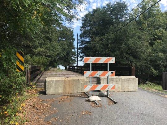 The Biblebrook Drive bridge closed in October 2017.