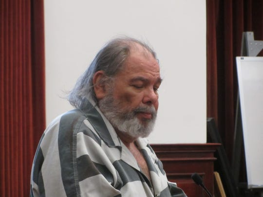 Robert Gonzalez makes his way across the courtroom after being sentenced Wednesday, Sept. 11, 2019, for sexually assaulting two young girls at a Great Falls hotel swimming pool.
