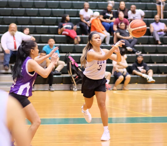 Jan-Nasia Tavilla from Saipan led UOG with 21 points in an 86-41 win over Team Legends in the opening game of the PBS Guam Women's Basketball League Tuesday at the UOG Calvo Field House.
