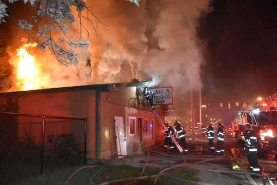 No one was inside when the fire broke out at the Hi Neighbor Tavern, 3422 W. 10th St., about 1:30 a.m., IFD Battalion Chief Rita Reith said.