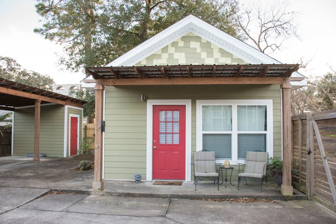 """An example of a 375-square-foot studio ADU, or """"Granny flat,"""" in Pensacola, Florida."""