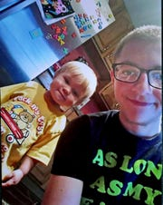 A week before he died, Brian Smith Jr., right, enjoyed time with his nephew Zayden. Brian died in 2018 from dehydration after excessive vomiting. The vomiting was a result of a rare condition called cannabinoid hyperemesis syndrome.