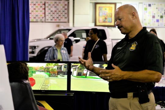 The Madison County Sheriff's Office Lieutenant Allen Castleman teaches the dangers of drunk and impaired driving at the West Tennessee State Fair on Sept. 10, 2019 in Jackson, Tenn.