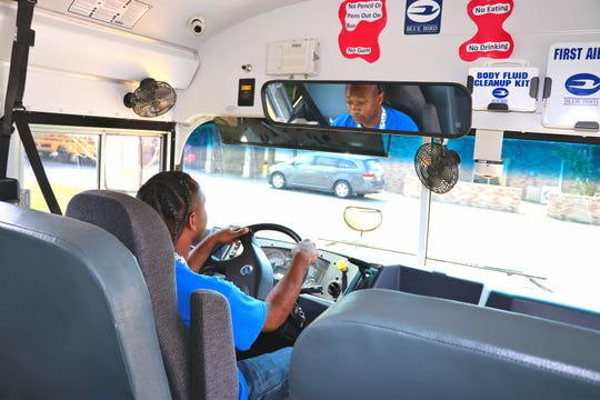 Luther Charles, 32, is a Lafayette Parish School System bus driver and a paraprofessional at Prairie Elementary in Lafayette. We spent a full day with him Friday, Sept. 6, to better understand the work that goes into those jobs.